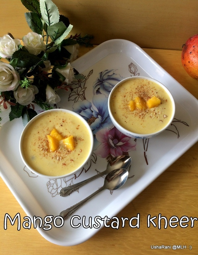 Mango Custard Powder Kheer | Mango Payasam with Custard Powder | Mango Paysam with Condensed Milk