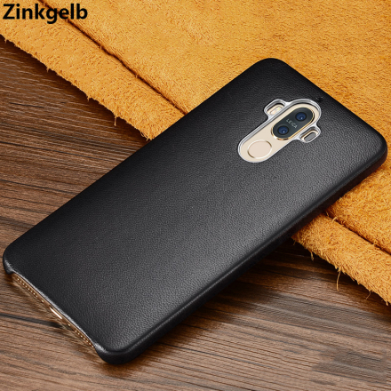 For Huawei Mate 9 Case Cover Luxury Genuine Leather Hard Slim Shockproof Armor Phone Case for Huawei Mate 9 Pro Back Cover funda
