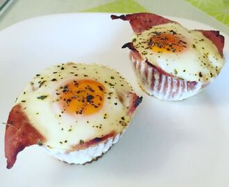 Instagram: Baked ham and egg cups for breakfast. Healthy, easy, tasty. #bacontunamelt