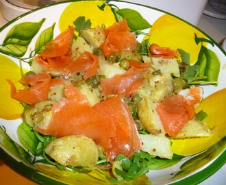 Mustardy Jersey Royal's and Smoked Salmon Salad Recipe