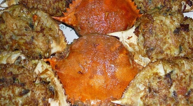 Pork and Crab Meats in Crab Shells #SeafoodRecipesWorldwide