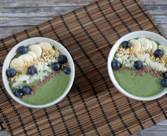 Supergesunder Start in den Tag:Green Smoothie Bowl