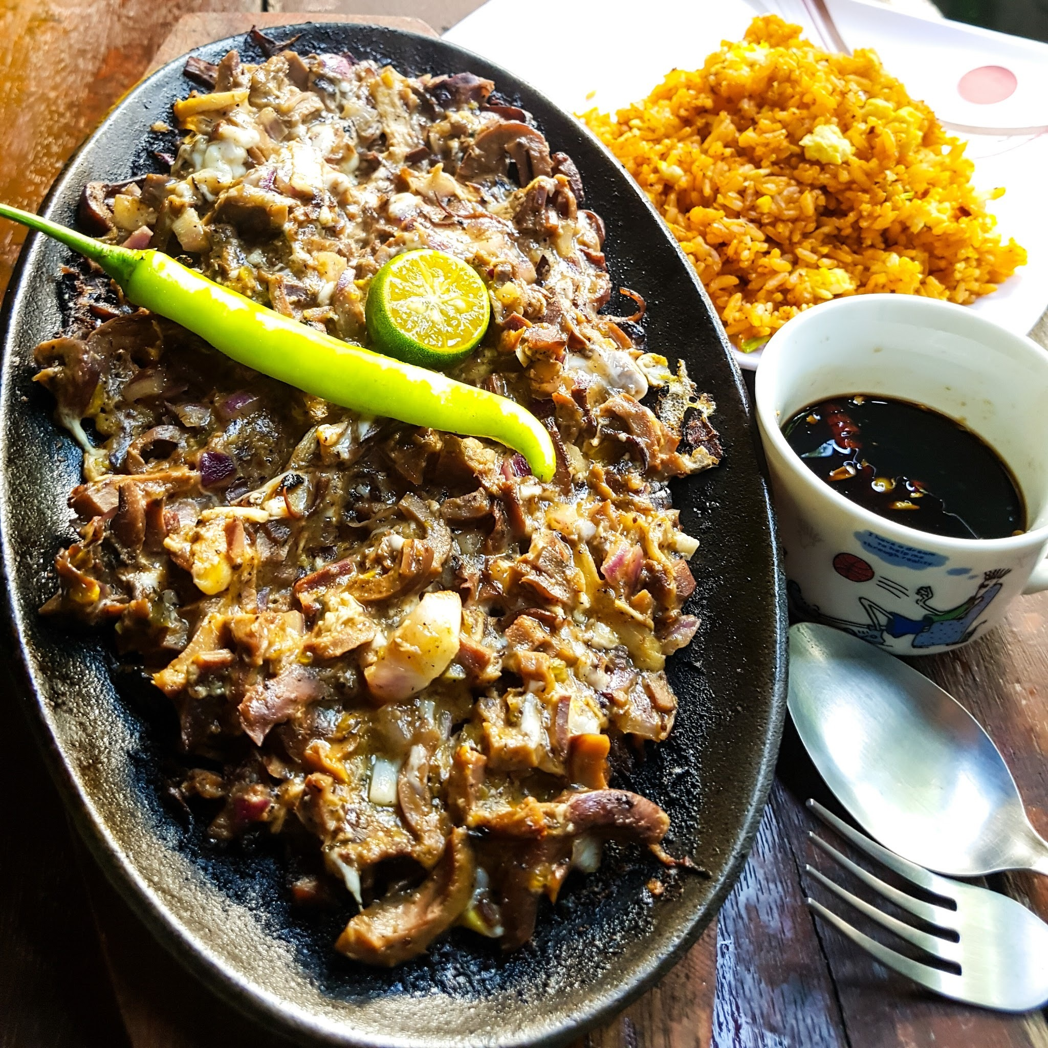 Sizzling Canned Squid Sisig