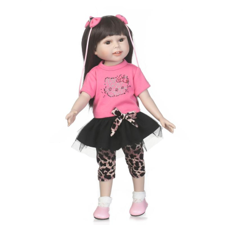 BJD DOLL 18 inch 45cm Full Vinyl American Dolls Girls Bebe Reborn Play House Toy Doll Baby for Kids Gift Juguetes Brinquedos