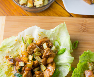Teriyaki Chicken Lettuce Cups