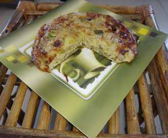 Spanish Omlette ( Tortilla Española ) in Indian way