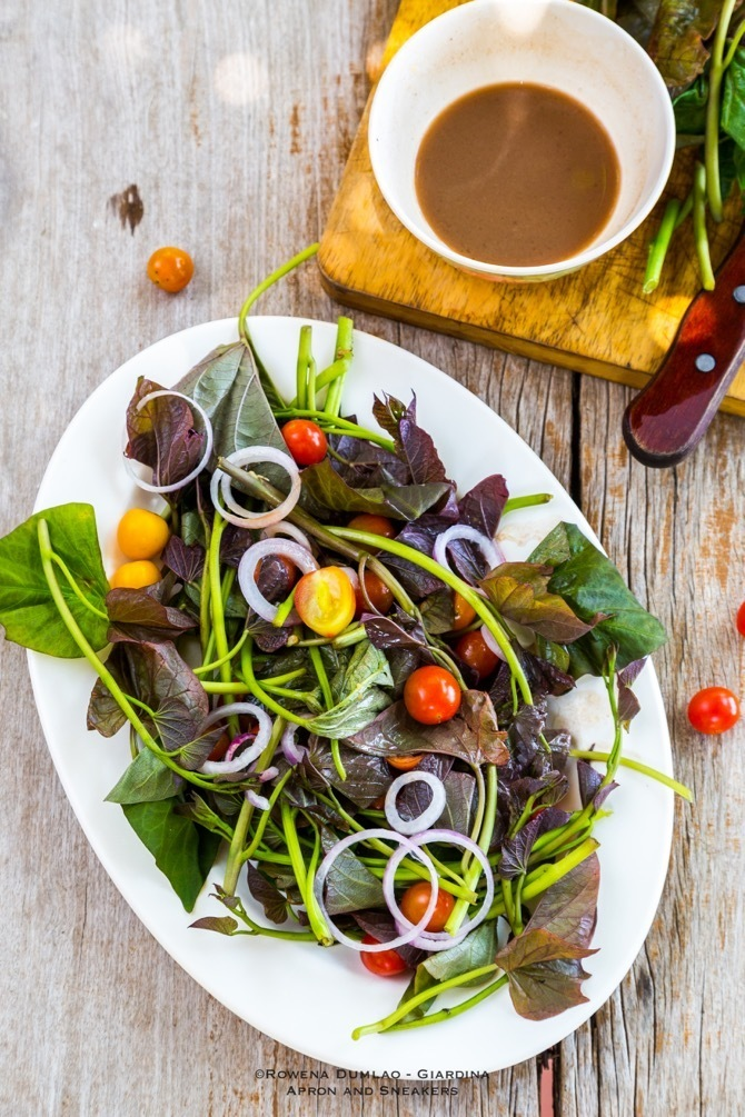 Sweet Potato Leaves Salad (Talbos ng Camote Salad)