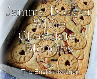 Jammie Dodger White Chocolate Blondies
