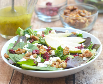 Pear and Feta Salad with Poppy Seed Dressing
