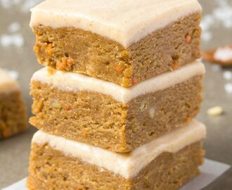 Healthy No Bake Carrot Cake Breakfast Bars