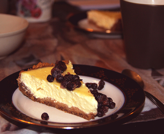 Krämig citron cheesecake
