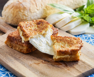 Cucina Napoletana Cookbook Review and Mozzarella in Carrozza (Neapolitan Fried Mozzarella Sandwiches)