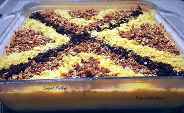 CARPET PUDDING - NO BAKE CARPET PUDDING
