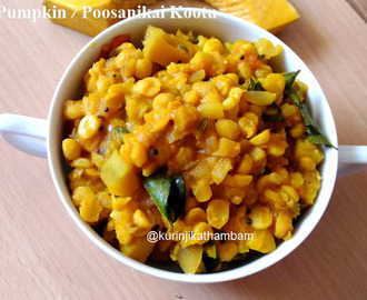 Yellow Pumpkin Kootu with Channa Dal (without Coconut)