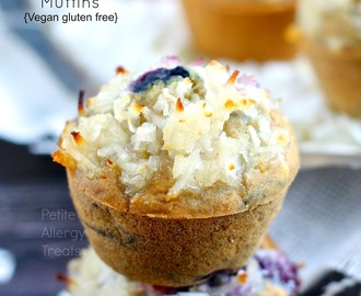Blueberry Coconut Muffins (Gluten Free Vegan)