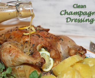 Roasted Chicken with Tangy Champagne Dressing {paleo, dairy, vinegar & gluten free}