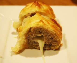 Mozzarella Sausage Rolls or Mooing Pigs