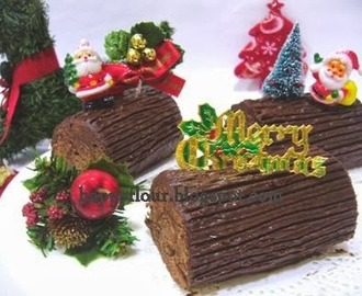 Mini X'mas Chocolate Log Cake
