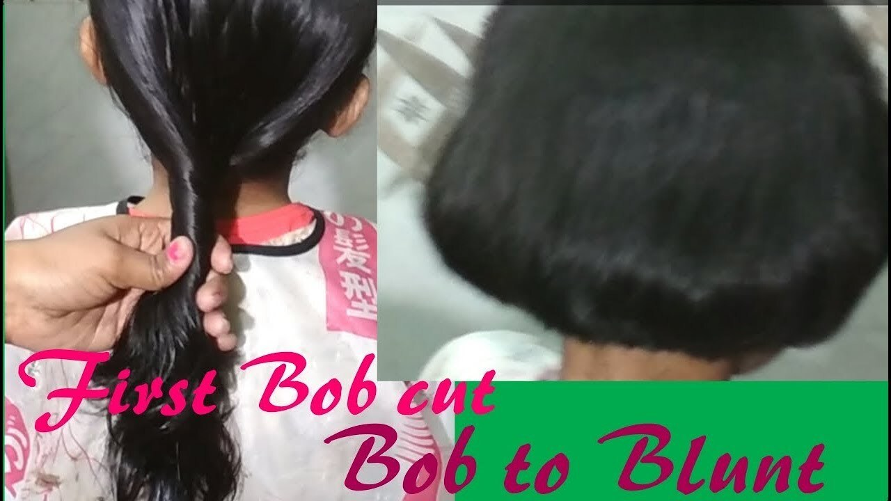 Easy pony||Bob cut||and then||Bob to||blunt cutting on hairs