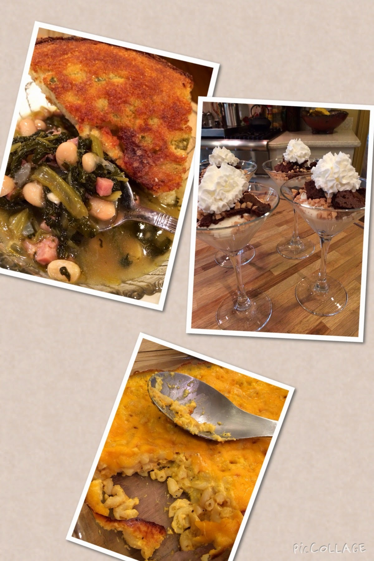 Recipes from today's show...Ham, Bean & Turnip Green Soup, Cornbread, Creamy Mac & Cheese & Brownie Brittle Parfaits...enjoy :)