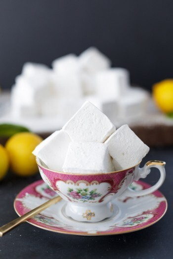 Homemade lemon meringue marshmallows