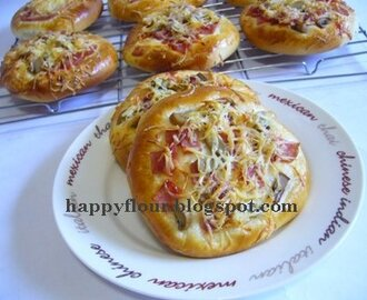 Ham and Mushroom Pizza Bread