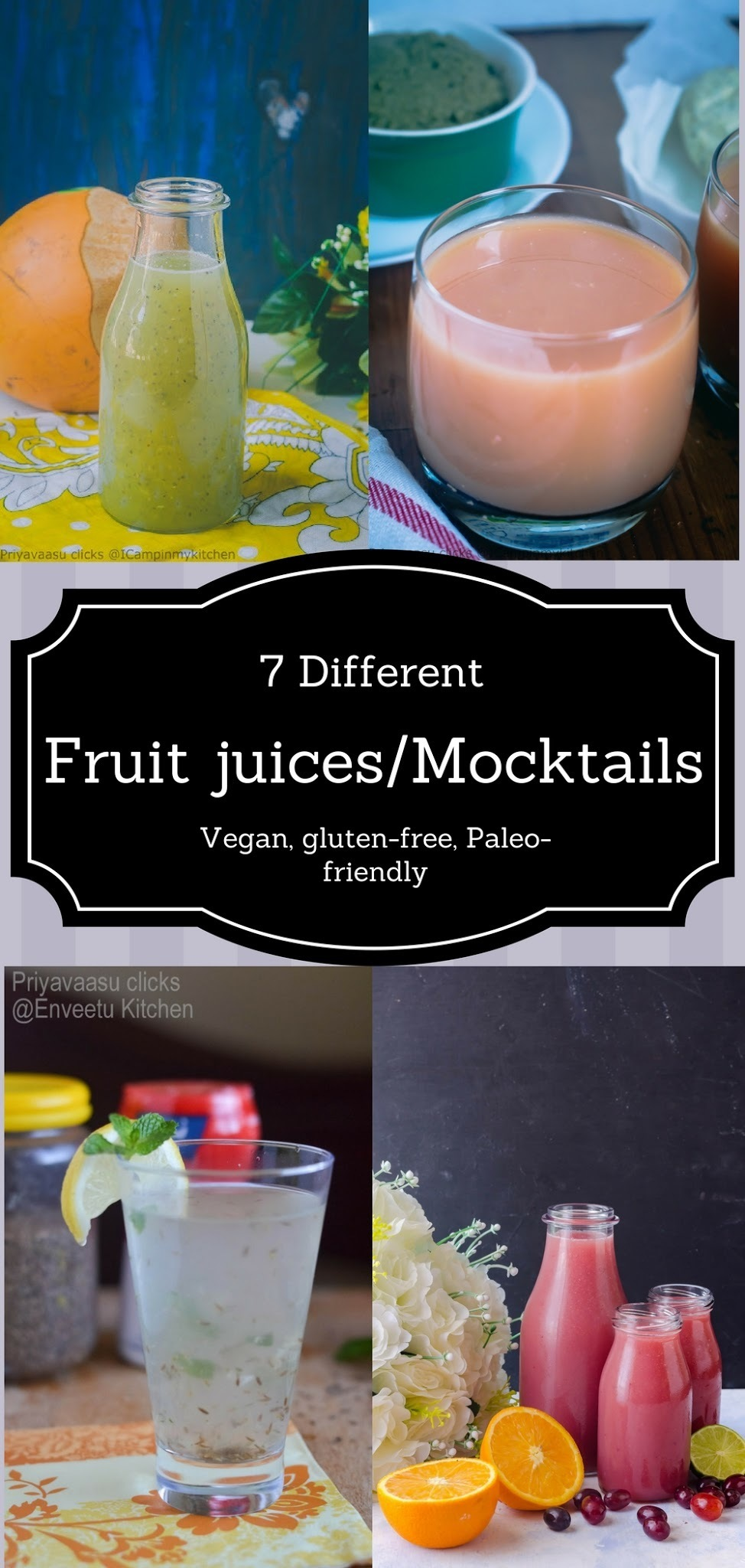 7 Fresh juices/Mocktails to keep you hydrated this summer