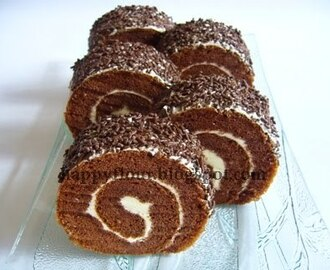 Chocolate Rice Swiss Roll