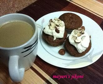 257. eggless coffee and cream muffins