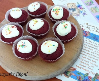 357.beetroot red velvet muffins (eggless)