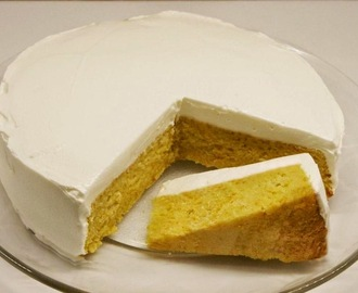 Mandarin Cake with Yogurt Icing