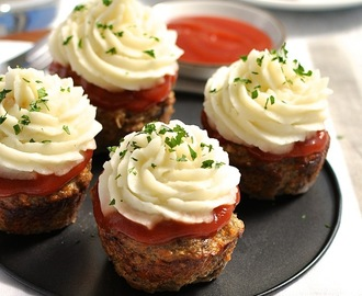 Meatloaf Cupcakes With Mashed Potato