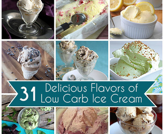 31 Low Carb Ice Cream Recipes and a Giveaway