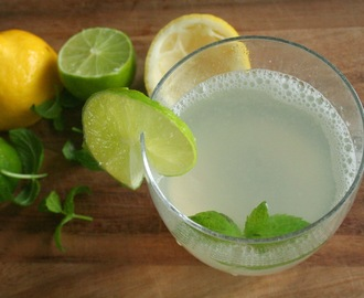 Ginger Mint Lime Ice Tea (Caffeine and Refined Sugar Free)
