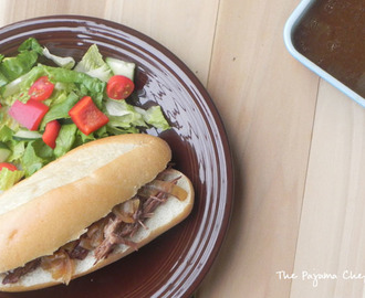 Easy Crockpot French Dip Sandwiches