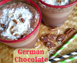 German Chocolate Coffee Blast {Weight Watchers Points}