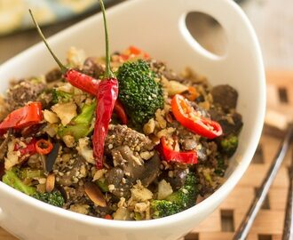 Beef and Broccoli Cauli-Rice [aka Not Chinese Not Fried Not Rice]