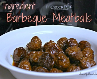 3 Ingredient Barbecue Meatballs