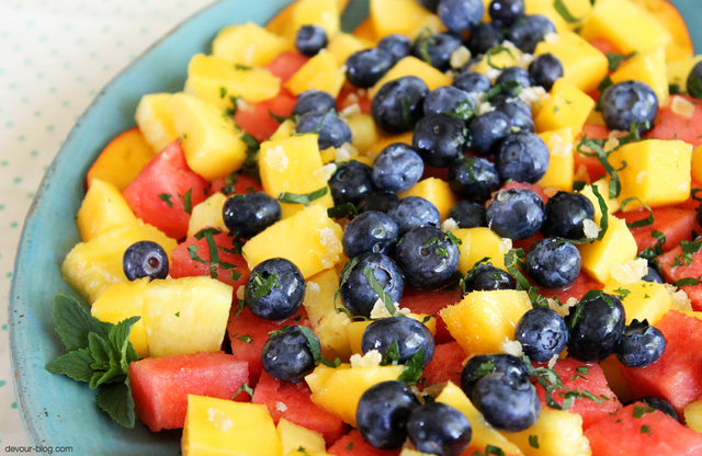 Summer Fruit Salad with Ginger, Lime and Mint