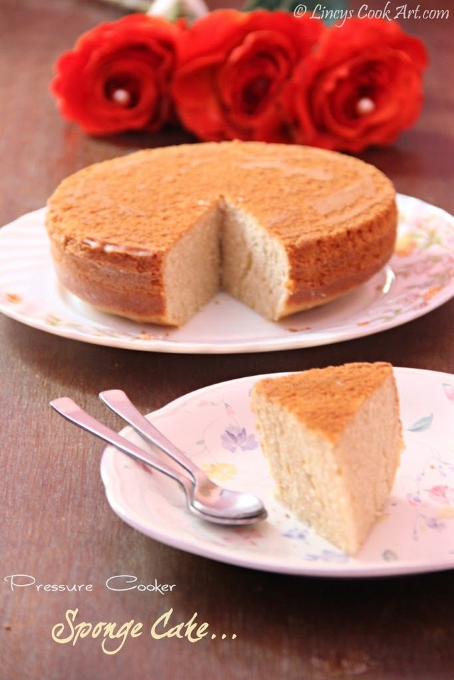 Pressure Cooker Sponge Cake/ Cake without Oven