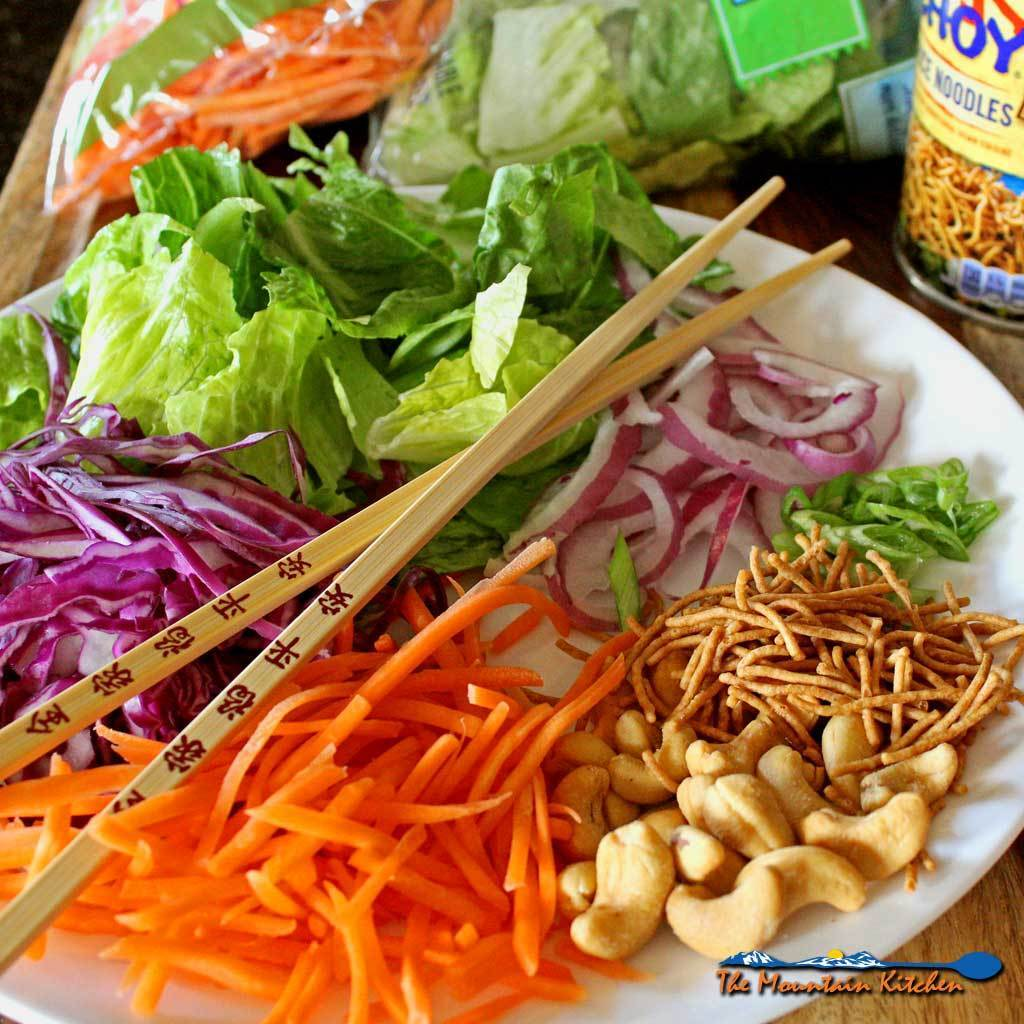 Asian Crunch Salad With Honey Sesame Dressing {A Meatless Monday Recipe