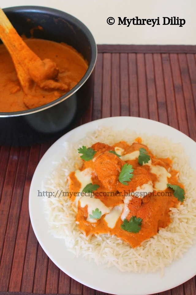Restaurant Style Butter Chicken Recipe / Chicken Tikka Masala Recipe with step by step pictures