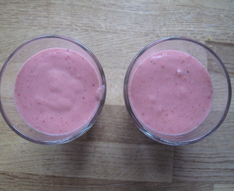 Hallon banan smoothie