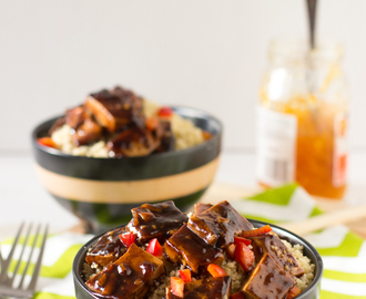 Asian Orange Glazed Tofu