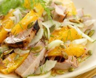 Grilled Pork Tenderloin Salad