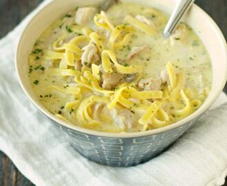 Crockpot Creamy Chicken Noodle Soup