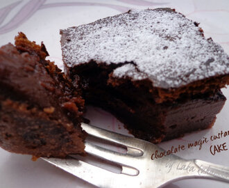 Čarobni čokoladni krem kolač :: Chocolate magic custard cake