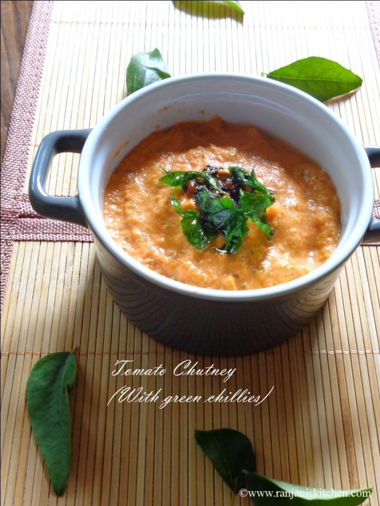 Tomato Chutney ( With Green chilli)