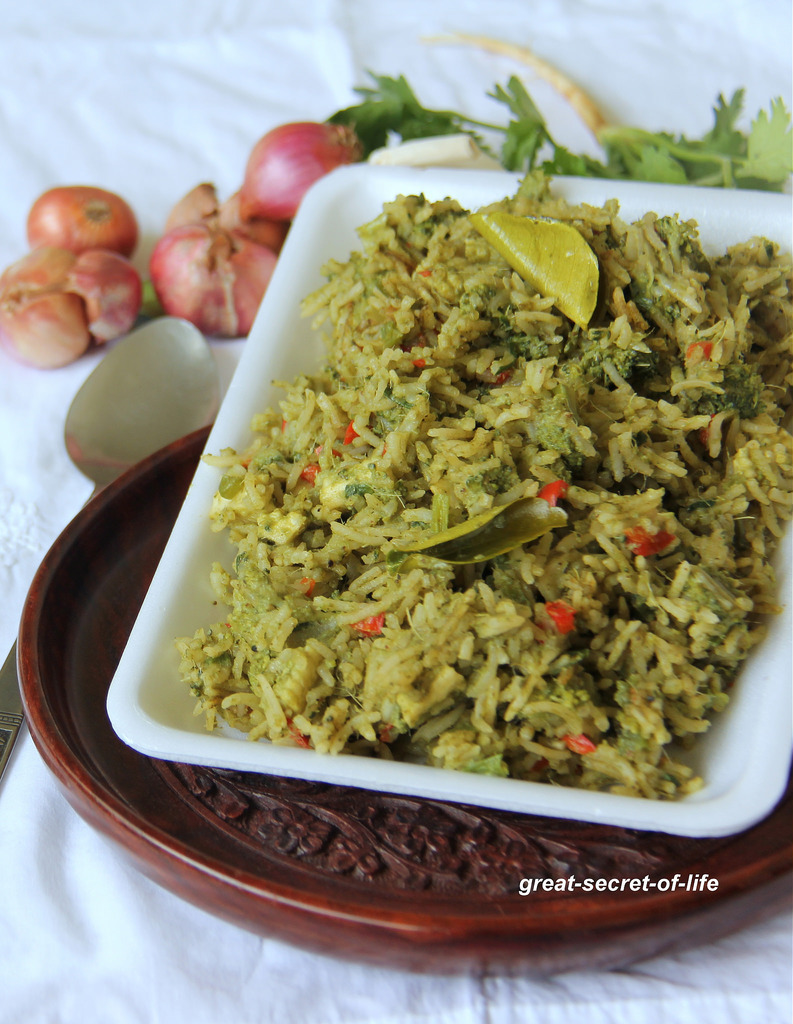 Thai Green curry vegetable fried rice - Lunch Recipe - Tasty one pot meal