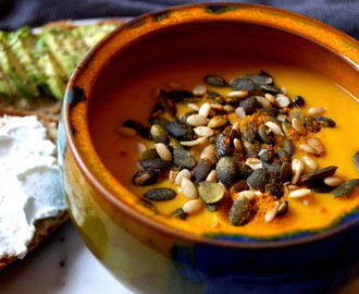 Spicy Sweet Potato & Parsnip Soup